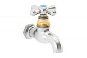 water tap, 3D rendering isolated on white background